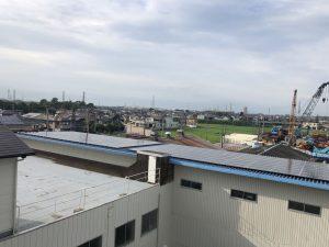 工場の屋根の様子